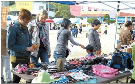 Success at Geoje school's first charity jumble sale