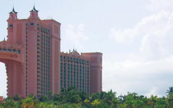 Plunging into Paradise  at Atlantis Island resort