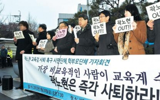 Kwak resumes drive for student rights
