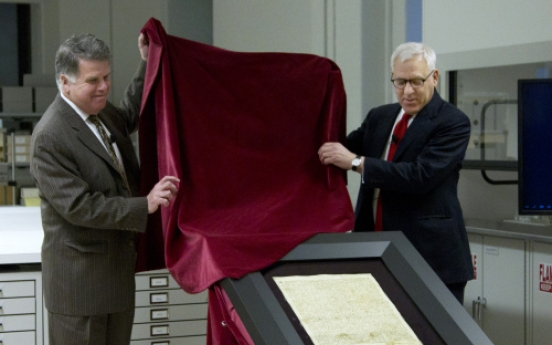 U.S. Archives unveils Magna Carta after repairs