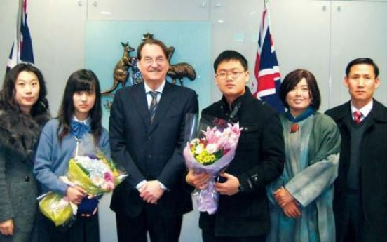 Korean students get math medals from Oz