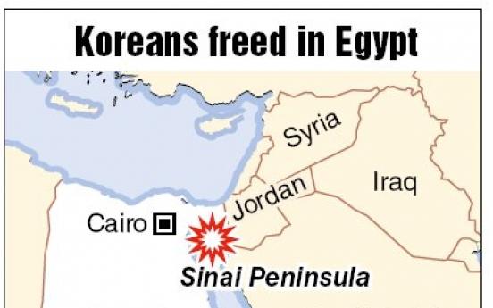 Tribesmen release Korean tourists in Egypt's Sinai