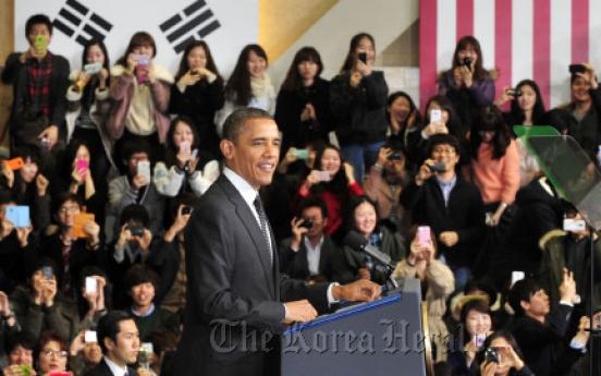 Obama meets Hu after blunt words on N.K.