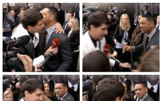 Will Smith slaps journalist who tries to kiss him
