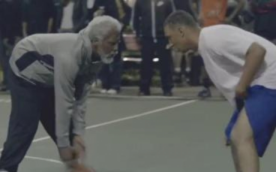 Hilarious YouTube video shows 'Gramp' schooling street-ballers
