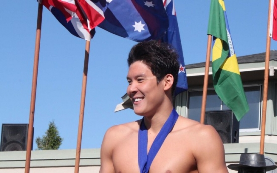 Park Tae-hwan wins 4th freestyle event at U.S. grand prix