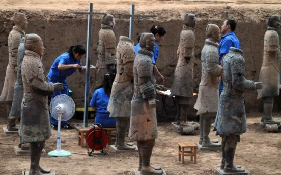 China unearths over 100 new terracotta warriors