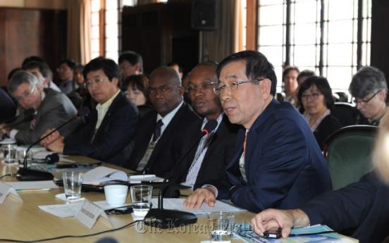Seoul mayor to lead group on environmental talks