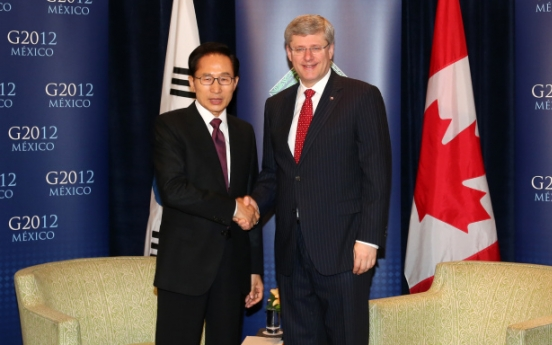 Korea, Canada agree to resume FTA talks