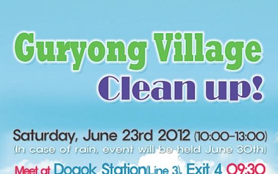 Shantytown cleanup by expat volunteers