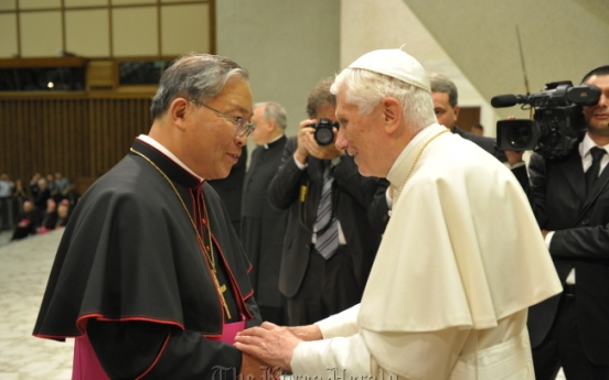 Pope confers pallium on Seoul's new archbishop
