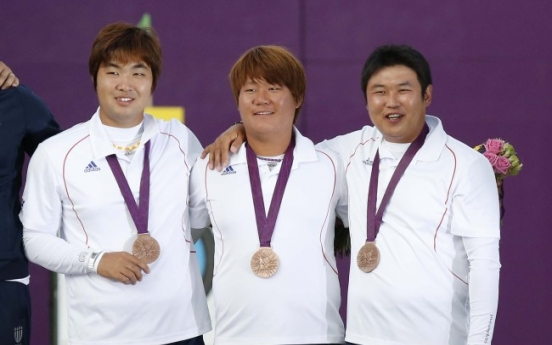 S. Korean men's archery team takes bronze day after setting world record