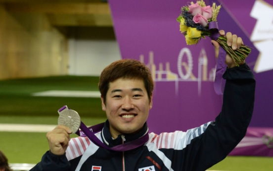 Kim Jong-hyun wins silver in men's 50-meter rifle 3 positions