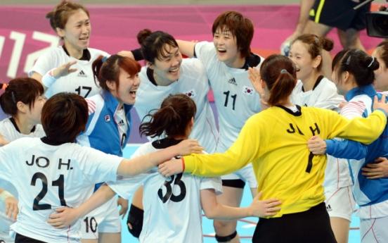 Korea beats Russia to reach semis in women's handball