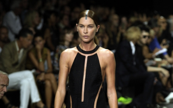 What clothes? Skin is ever in at NY Fashion Week