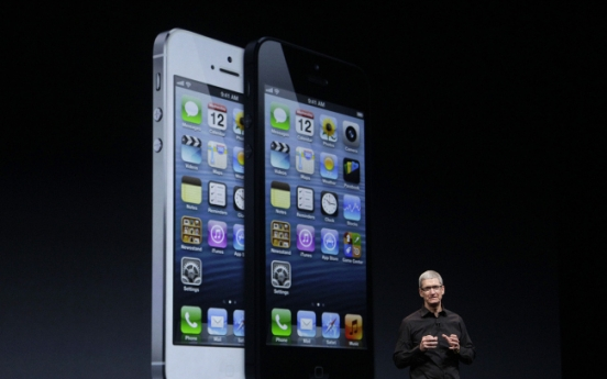 Apple unveils thinner and lighter iPhone 5
