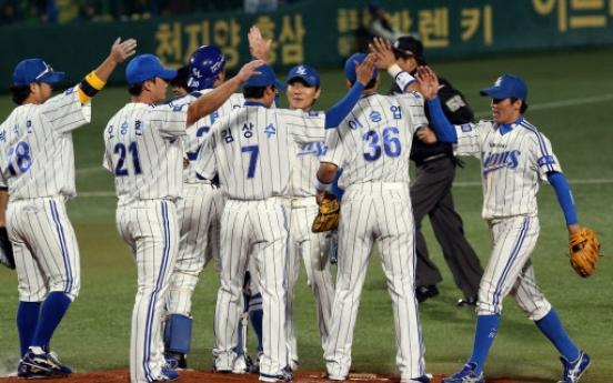 Samsung Lions beat SK Wyverns to start Korean Series