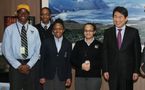 N.Y. high-school students visit Korea