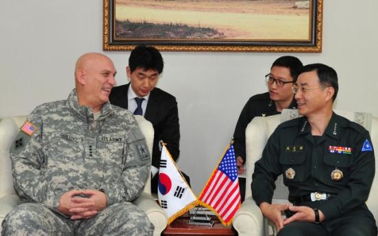 Korean, U.S. Army chiefs vow to strengthen alliance