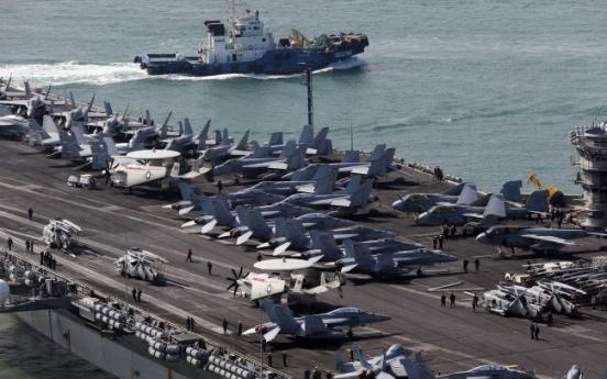 U.S. aircraft carrier Nimitz off S. Korea for drill