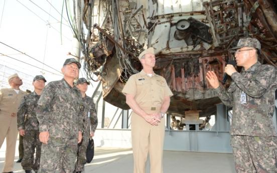 U.S. navy chief visits Korea