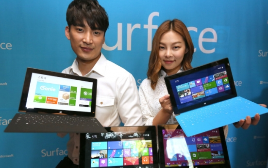 Microsoft rolls out Surface tablet in S. Korea