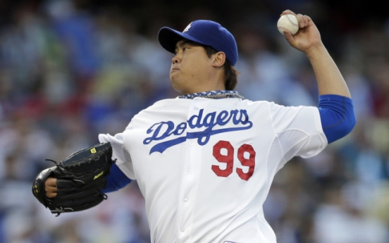 Ryu Hyun-jin hurls two-hitter in win over Angels