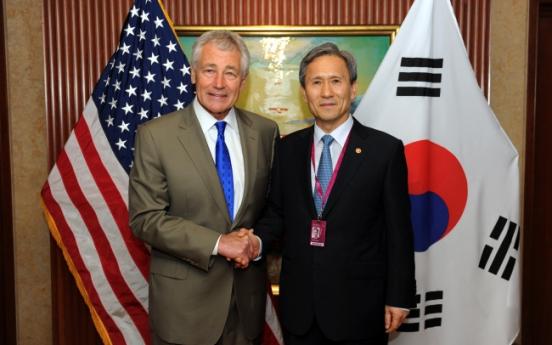S. Korea, U.S. defense chiefs vow strong alliance against N. Korea