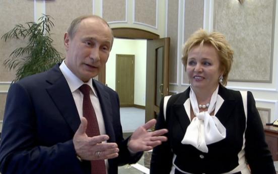 소문 무성하던 푸틴 부부, 끝내 이혼선언