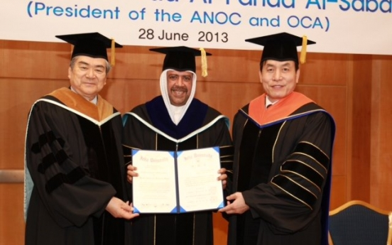 OCA chief receives honorary doctorate from Inha University