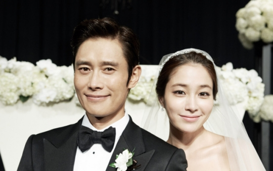 [Photo News] As groom, Lee says beginning second chapter of his life