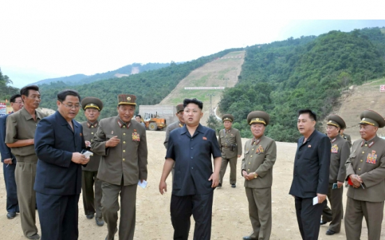 Kim Jong-un inspects construction site for ski resort
