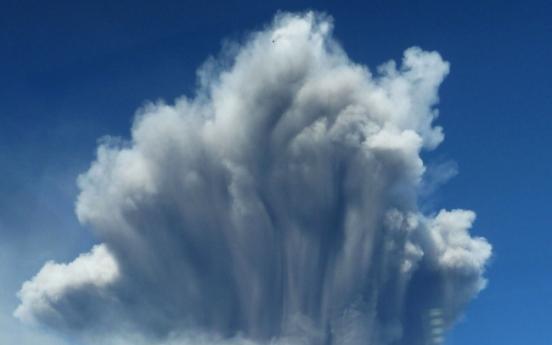 일본 가고시마현 화산 폭발…연기 5천m까지 치솟아