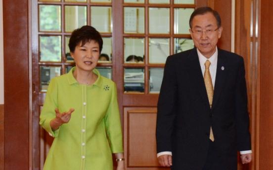 U.N. chief praises Park's 'trustpolitik'