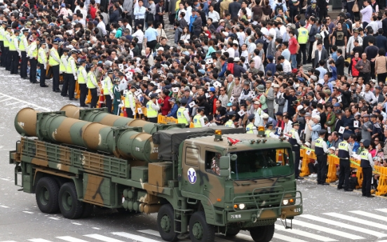 Seoul shows off missiles targeting North Korea