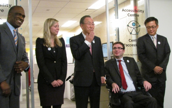 U.N. opens center for disabled sponsored by Korea, Samsung