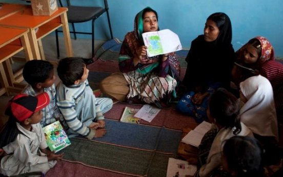Pakistani woman out to educate children