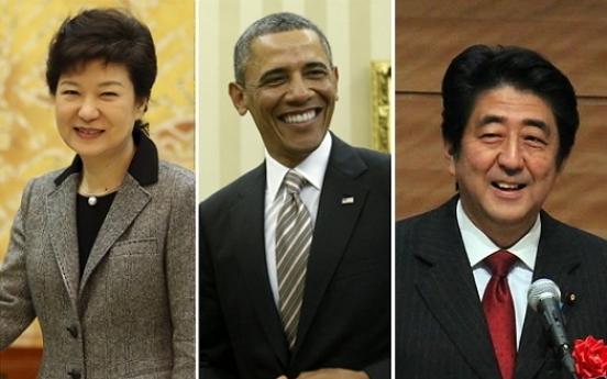 S. Korea, U.S., Japan to hold three-way summit in Hague