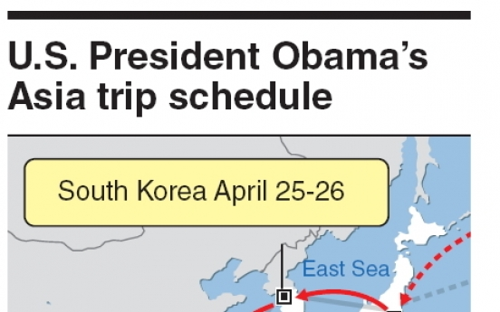 Park, Obama likely to meet April 25