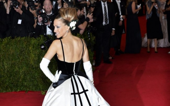Old world glamour in black and white at Met gala