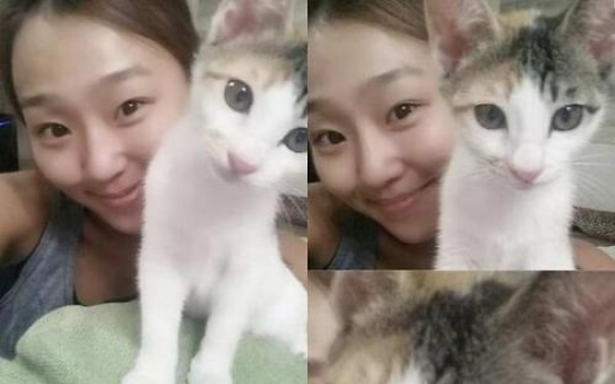 SISTAR's Hyorin embraces cat as new family