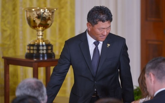 Obama hosts Presidents Cup golfers