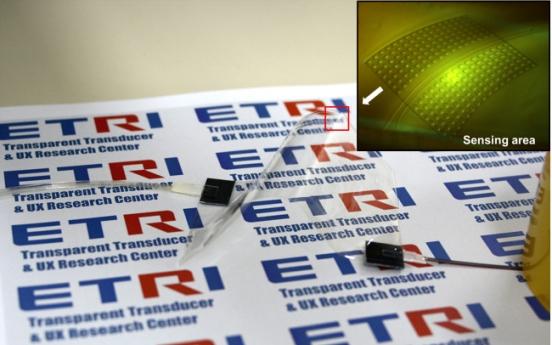 ETRI invents sensors for flexible, transparent displays
