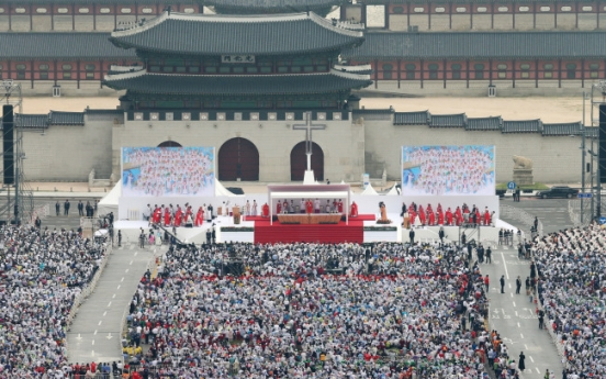 [Papal Visit] Downtown Seoul becomes outdoor cathedral