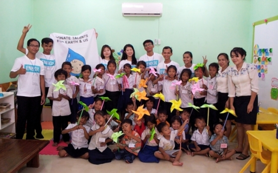 Ewha students visit Cambodia to work as education volunteers