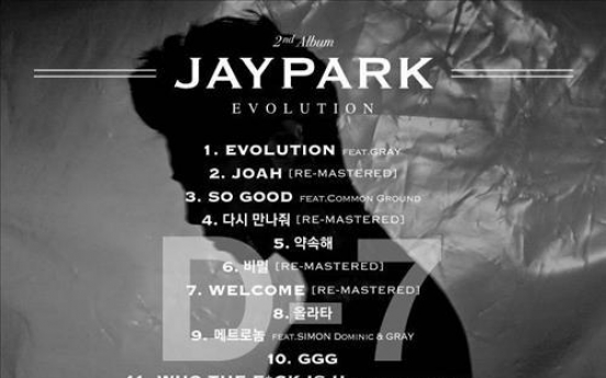 Jay Park's track list on new album released