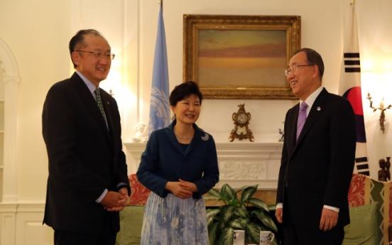 Park attends U.N. climate summit