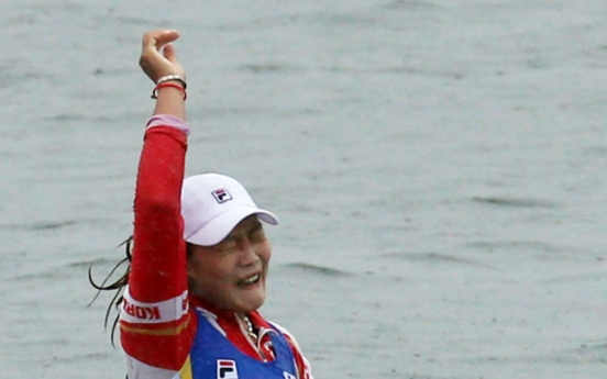 [Asian Games] Kim Ye-ji wins gold in women's single sculls rowing