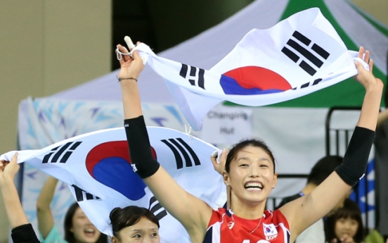 [Asian Games] Korea beats China for women's volleyball, basketball gold
