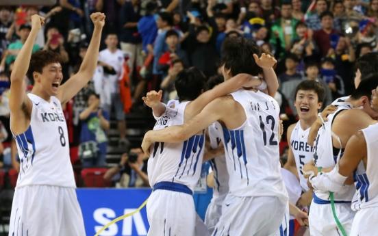 [Asian Games] Korea beats Iran for men's basketball gold